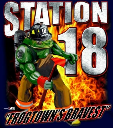 The logo for Station 18. Courtesy Saint Paul Firefighters IAFF Local 21.