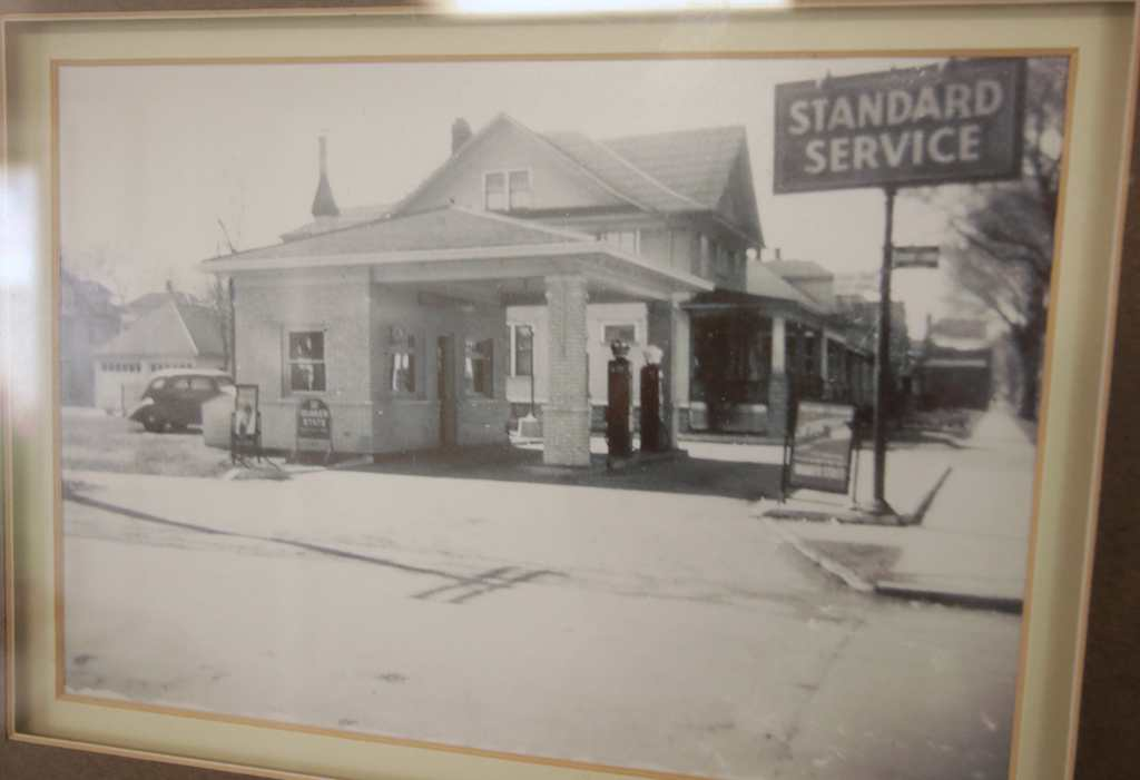The original Standard Oil service station that became Glasgow Automotive. Another of the photographic memories hung in the office.